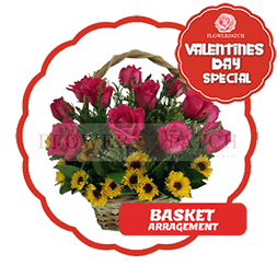 vday with badge BASKET
